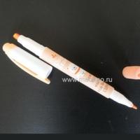 Флуоресцентный маркер 2-х сторонний оранжевый 4/1мм.